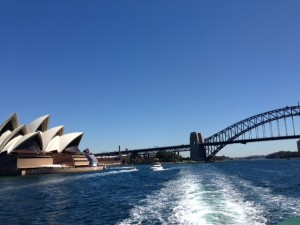 On the ferry to Manly
