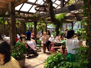 Patrons enjoy the atmosphere at The Grounds of Alexandria