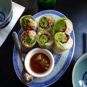 Combination rice paper rolls at Madame Nhu