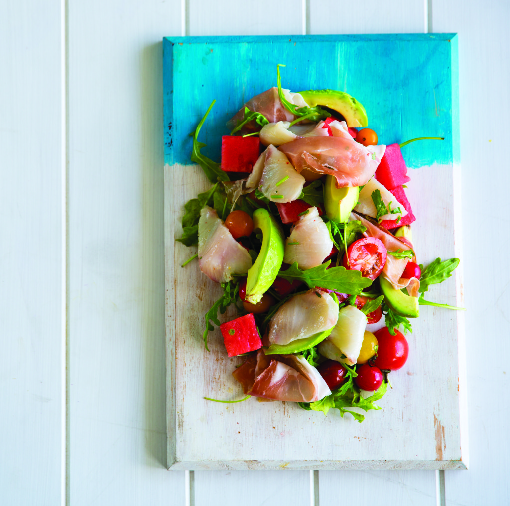 Summer watermelon ceviche salad